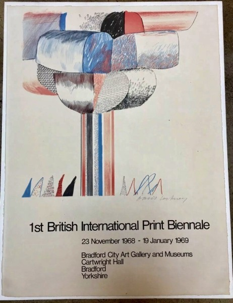 David Hockney, Hand Signed '1st British International Print Biennale', 1968