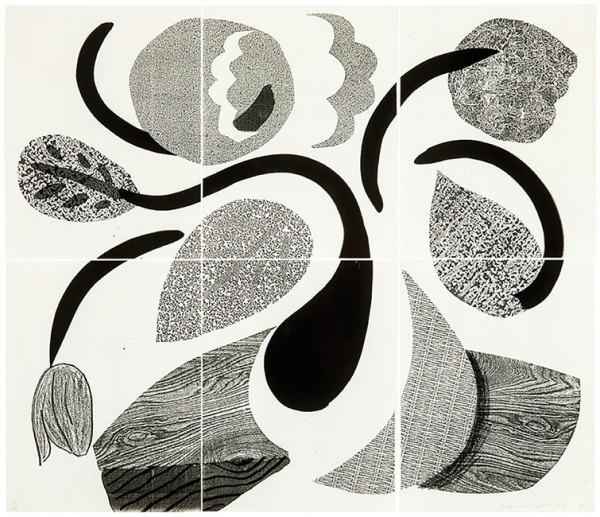 David Hockney, Dancing Flowers, May 1986, 1986