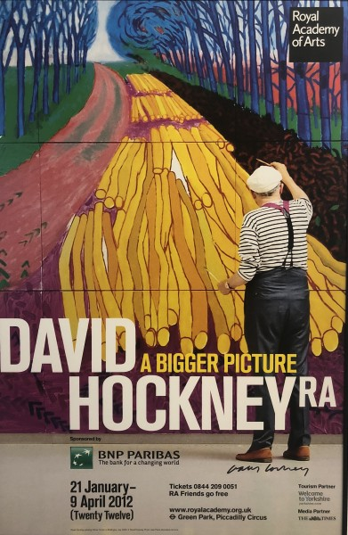 David Hockney, David Hockney Hand Signed Original Poster, A Bigger Picture, 2012
