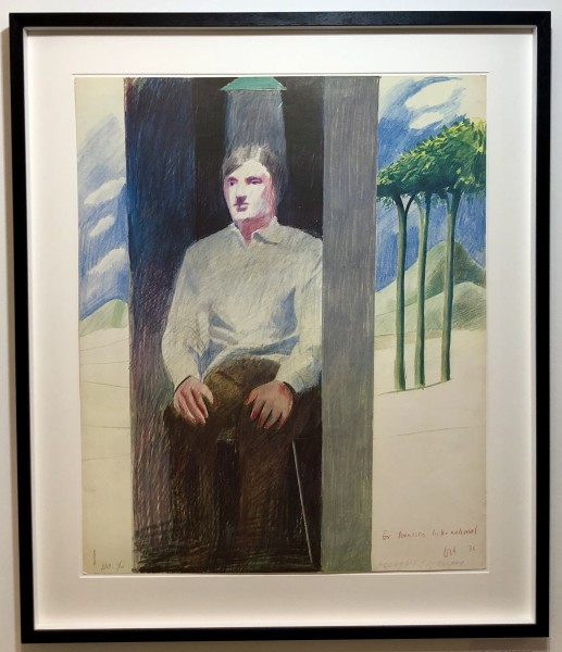 David Hockney, Prisoner for Amnesty International , 1977