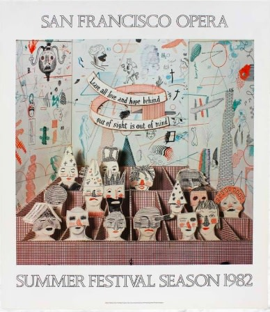 David Hockney, David Hockney Original Poster Francisco Opera 1982 , 1982