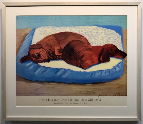David Hockney, Hand Signed Dog 43, 1995