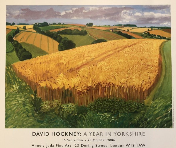 David Hockney, Wheat Field Near Fridaythorpe, 2006