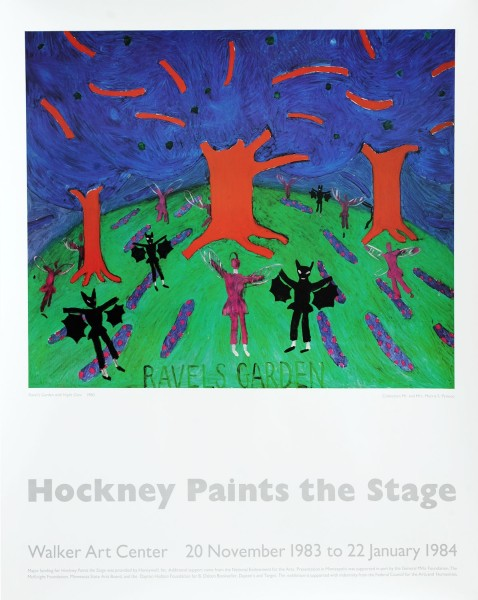 David Hockney, David Hockney Original Poster 'Ravels Garden Hockney Paints the Stage' , 1983