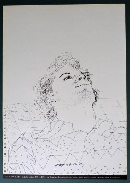 David Hockney, David Hockney Original Poster Hand Signed 'Peter, Hotel Regina, Venice, 1970' , 1994
