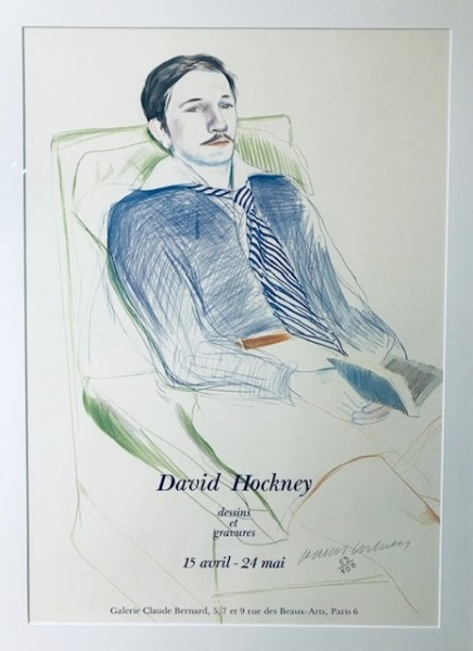 David Hockney, David Hockney Original Poster Hand Signed and Numbered 'Dessins et Gravures' , 1975