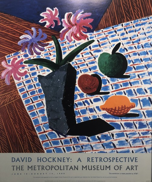 David Hockney, David Hockney Original Poster 'Still Life With Flowers', 1988