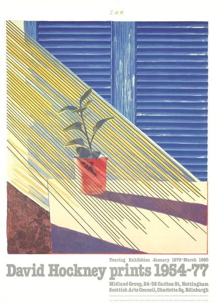 David Hockney, David Hockney 'Sun' Poster, 1981