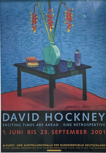 David Hockney, Hand Signed 'Exciting Times Ahead', 2001