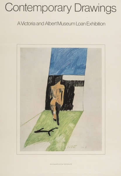 David Hockney, David Hockney Original Poster 'Contemporary Drawings', 1974