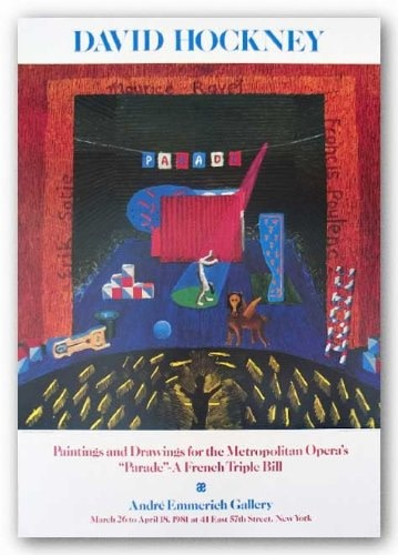 David Hockney, David Hockney Original Poster 'Paintings and Drawings for the Metropolitan Opera's Parade', 1981