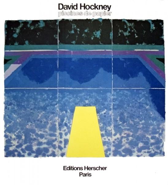 David Hockney, 'Piscine Avec Les Trois Bleus', 1980