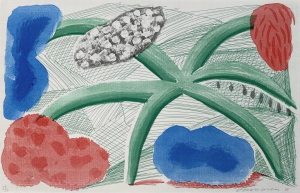 David Hockney, Landscape with a Plant, 1986