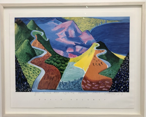 David Hockney, Hand signed Pacific Coast Highway and Santa Monica , 1990