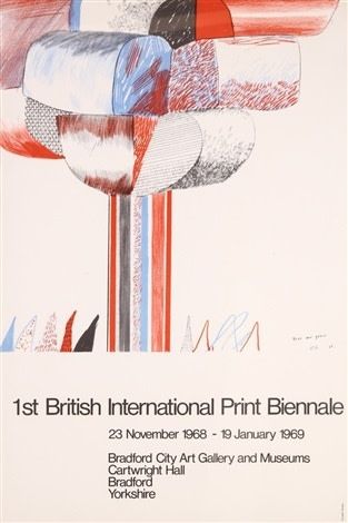 David Hockney, David Hockney Original Poster British International Print Biennale , 1968