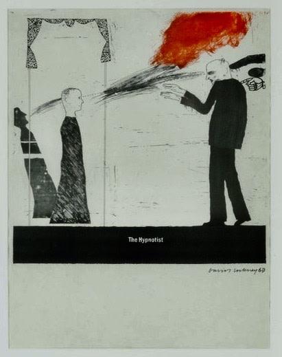 David Hockney, Britische Graphische Scene 'The Hypnotist' 1963, 1963