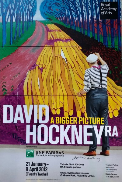 David Hockney, Hand Signed Original Poster, A Bigger Picture, 2012