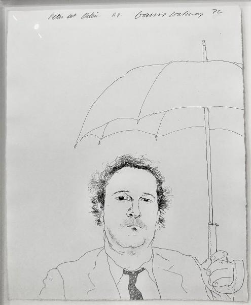 David Hockney, The Restaurateur, 1972