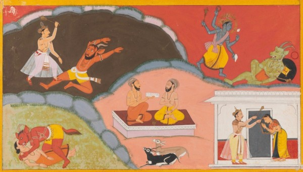 AN ILLUSTRATION TO A RAMAYANA SERIES