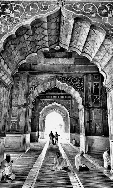 William Dalrymple , Interior of Jama Masjid, Old Delhi