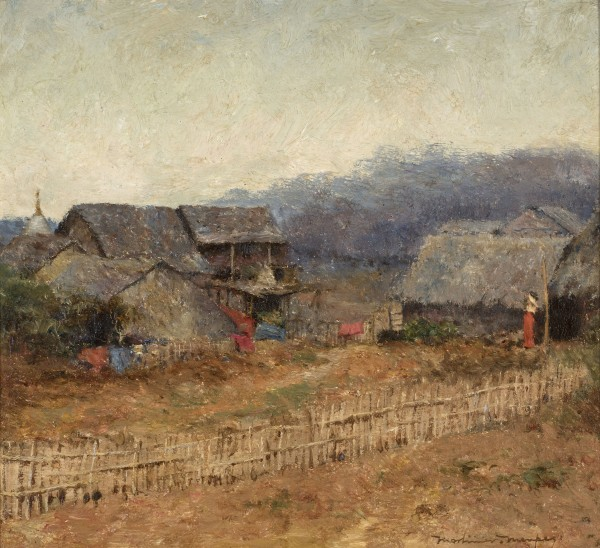 40. Mortimer Menpes RI, RBA, RE (1855-1938), Burmese Village