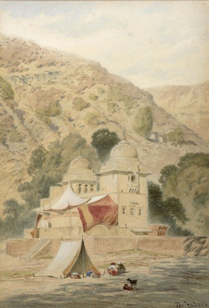 31. Frederick William Alexander De Fabeck , View of India , c. 1860