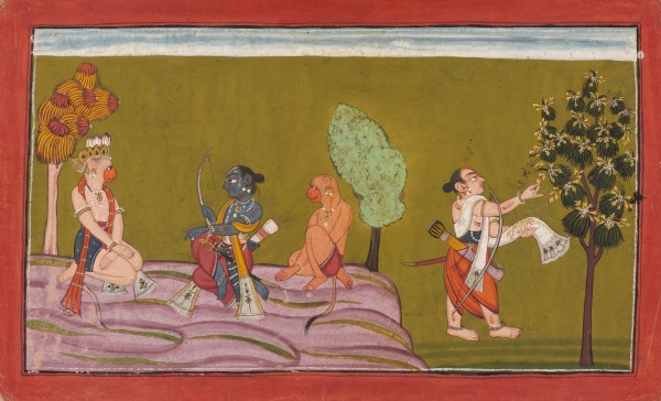 Lakshmana Gathers Flower Blossoms