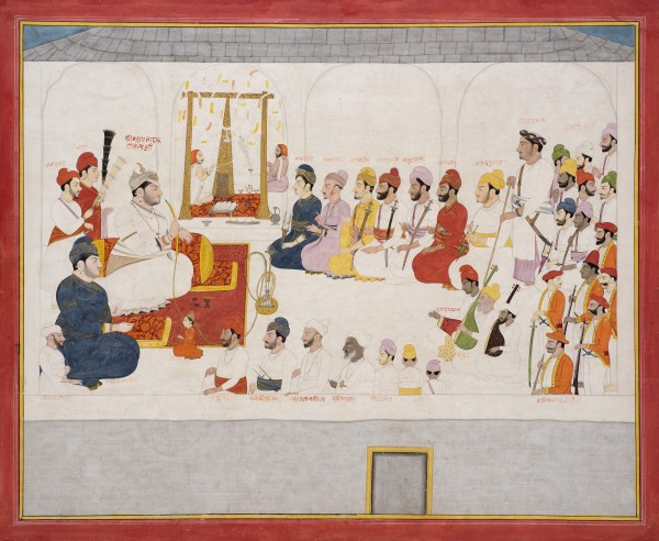 Raja Isvari Sen of Mandi at Court, by Sajnu