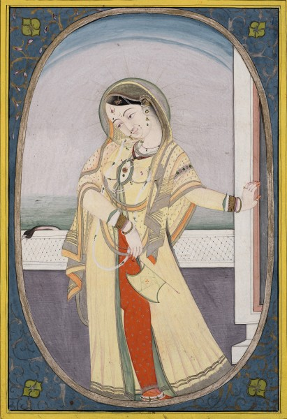 A Lady on a terrace, by Mohammadi