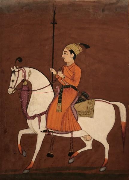 A Young Prince Riding a Stallion