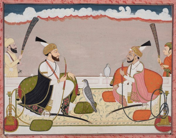Raja Surma Sen of Mandi and Raja Teg Chand of Kangra