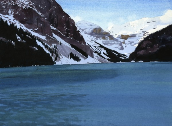 Eva Bartel Lake Louise, November watercolour £1200