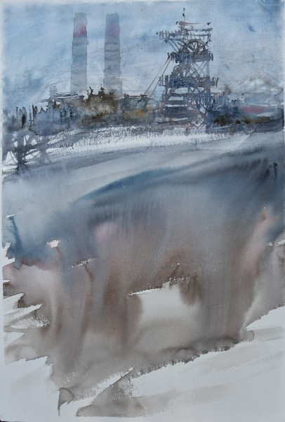 Joanna Bozek Underworld watercolour £495