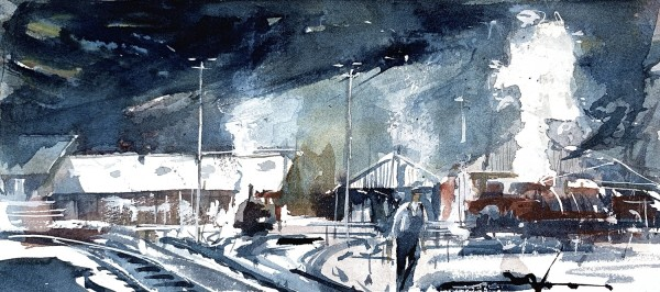 Mark Buck Morning Steam watercolour £325