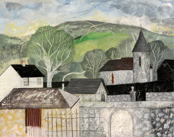 Jonathan Christie Chalk Paths: View from Southease watercolour, gesso & graphite £900