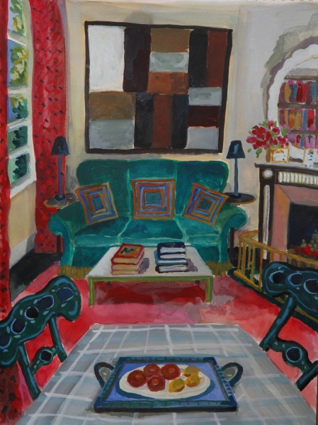 Lottie Cole Interior with Sean Scully gouache & watercolour £1100