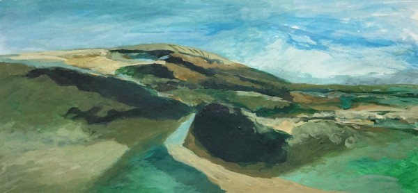 Nick Ebdon South Downs acrylic £310