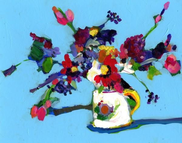 Jenny Handley Floral Bouquet acrylic £425