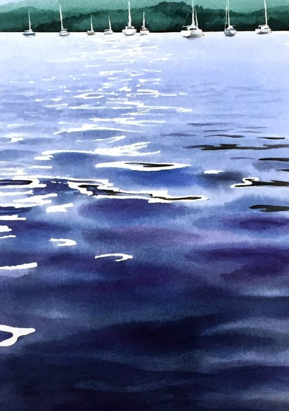 Tony Hatt Slack Water watercolour £445