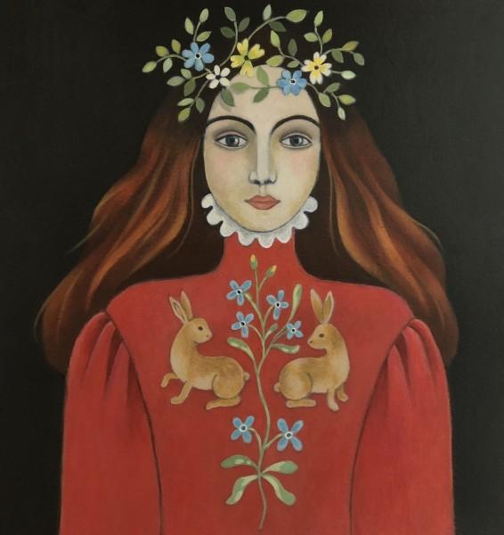 Jane Hitchcock La Reine du Bois acrylic £400