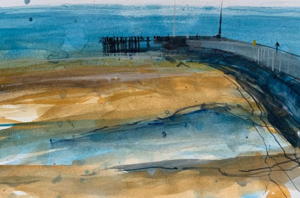 Stanley John Harbour Edge, Southwold watercolour £850