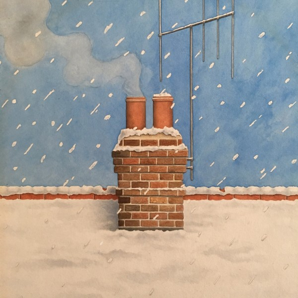 Peter Knock White Christmas watercolour £750
