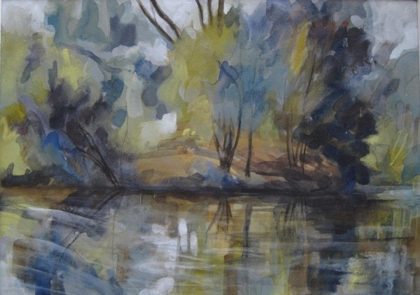 Heather MacKinlay Barnes Pond mixed media £450