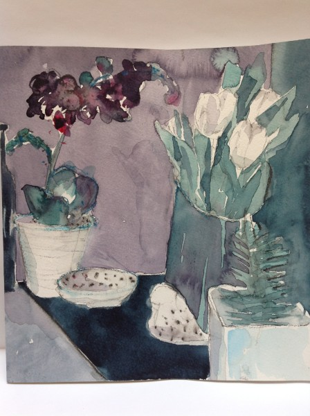 Elizabeth Clare Nicholson Orchid Study 2 watercolour & pencil £300