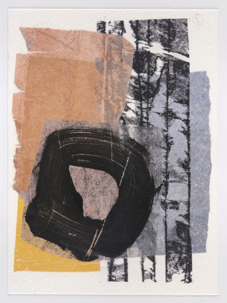 Kate Scott Circle watercolour & acrylic collage £290 Winner of the St Cuthbert's Mill Prize