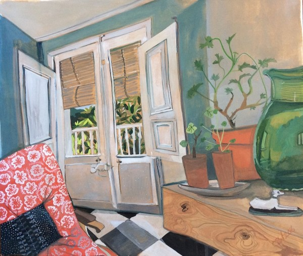 Claudia Silva Studio Room watercolour & gouache £415