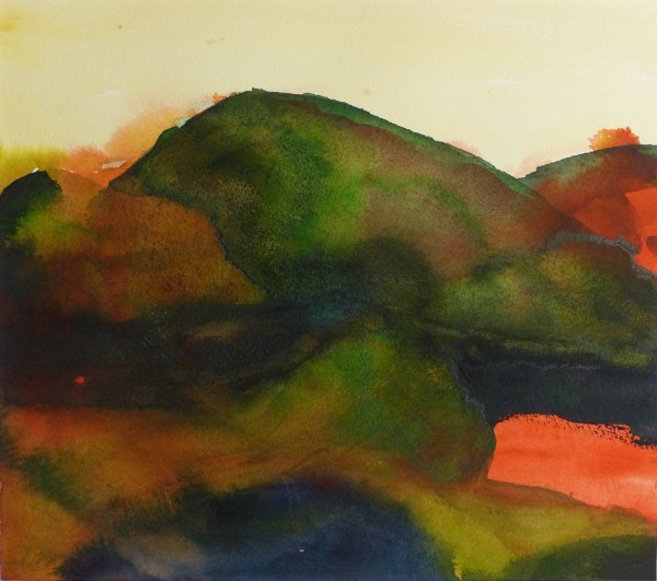 Bodil Steinsund Towards Rasletind watercolour £510