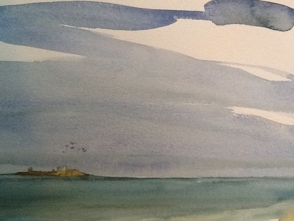 Nelle Strange Farne Islands watercolour £380
