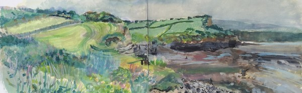 Lisa Takahashi Walkers at Kilve watercolour £500