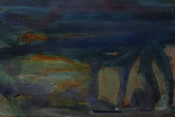 Francis Tinsley Storm, Margate watercolour £520